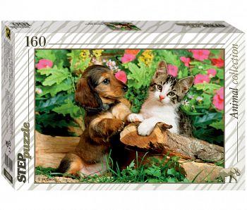 """Пазл """"Animal Collection. Верные друзья!"""" (Степ Пазл 72054)"""