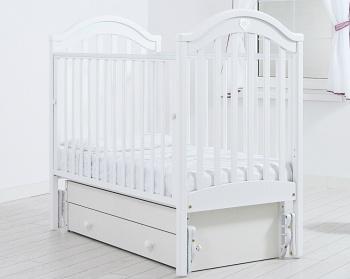 """Кровать с маятником 120x60 Гандылян """"Софи"""" белый (К-2002-25мб)"""