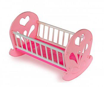 Кроватка-качалка для куклы (Огонек С-250)