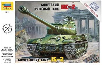 """Сборная модель """"Советский тяжелый танк ИС-2"""" (Звезда 5011)"""