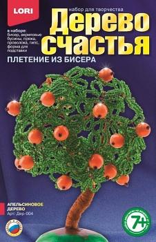 """Плетение из бисера и пайеток """"Дерево счастья. Апельсиновое дерево"""" (Lori Дер-004)"""