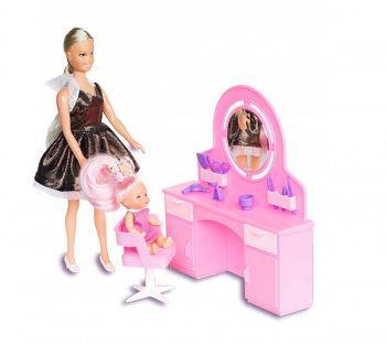 """Набор мебели для кукол """"Парикмахерская"""" (Огонек С-760)"""