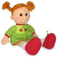 """Мягкая игрушка """"Кукла Майя в платье с вишнями"""""""