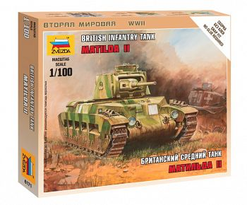"""Сборная модель """"Великая Отечественная. Британский средний танк Матильда II"""" (Звезда 6171)"""