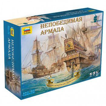 """Военно-историческая настольная игра """"The Ships. Непобедимая армада"""" (Звезда 6504)"""