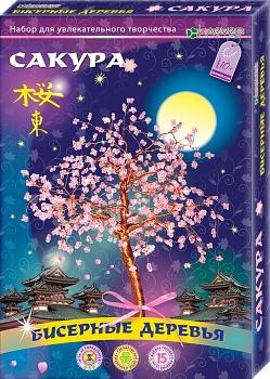 """Набор для изготовления бисерного дерева """"Сакура"""" (Клевер АА 46-101)"""