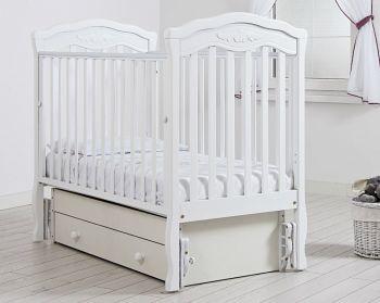 """Кровать с маятником 120x60 Гандылян """"Шарлотта"""" белый (К-2003-2мб)"""