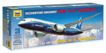 """Сборная модель """"Пассажирский авиалайнер Боинг 787-8 """"Дримлайнер"""" (Звезда 7008)"""