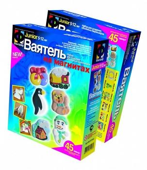 """Набор для создания барельефов """"Ваятель. Магниты. Ассорти с пингвином"""" (Фантазёр 707043)"""