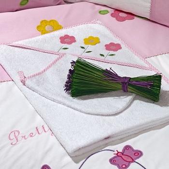 Полотенце-уголок Funnababy Butterfly + варежка