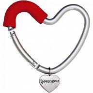 """Крепление для сумок """"Buggy Heart Hook Red"""""""
