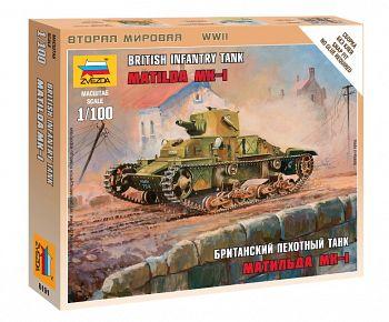 """Сборная модель """"Великая Отечественная. Британский пехотный танк Матильда МК-I"""" (Звезда 6191)"""