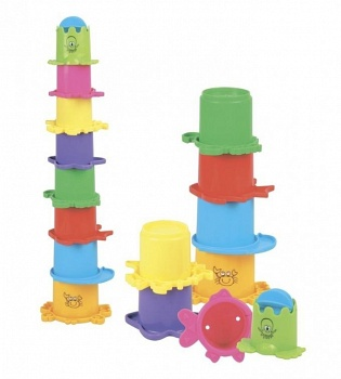 "Пирамидка для игр с водой ""Морские обитатели"" (Mioshi TY9055)"