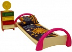 """Набор мебели для кукол """"Кристина. Кровать с тумбочкой"""""""