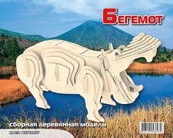 """Сборная деревянная модель """"Бегемот"""" (МДИ М019)"""