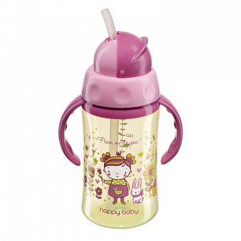 """Поильник с трубочкой и ручками """"Feeding Cup"""" (Happy Baby 14004)"""