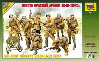 """Сборная модель """"Пехота красной армии 1940-1942"""" (Звезда 3526)"""