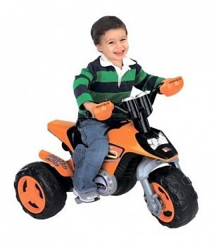 Детский мотоцикл Molto Elite 6 оранжевый (Полесье 35875)