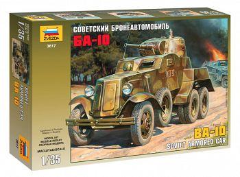 """Сборная модель """"Советский бронеавтомобиль БА-10"""" (Звезда 3617)"""